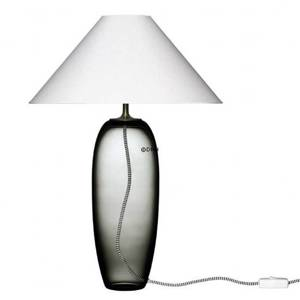 Holmegaard Grace Glass Table Lamp, smoke - Discontinued