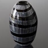 Cheap Large Black and White Glass Vase, Hand Blown Glass Art,