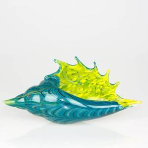 Glass Shell Bowl, Hand Blown Glass, | No. 4485 | DPH Trading