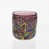 Rose Tealight Candle Holder/cup/vase, 8x10cm, Hand Blown Glass,