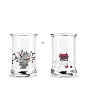 Dram glass 2015 Holmegaard Christmas 2 pcs.