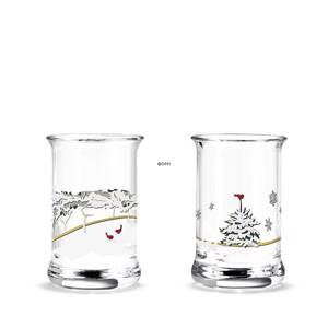Dram glass 2017 Holmegaard Christmas 2 pcs. | Year 2017 | No. 4800362 | DPH Trading