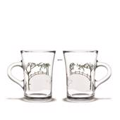 Christmas hot drink glasses 2018, 2 pcs., Holmegaard Christmas