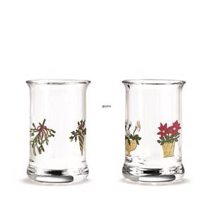 Dram glass 2018 Holmegaard Christmas 2 pcs.