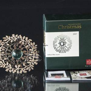 Annual Christmas decoration 2007, Branch, SILVER, Holmegaard Christmas | Year 2007 | No. 4800467 | DPH Trading