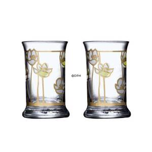 Dram Glasses 2009, set of 2. Holmegaard Christmas | Year 2009 | No. 4800705 | DPH Trading