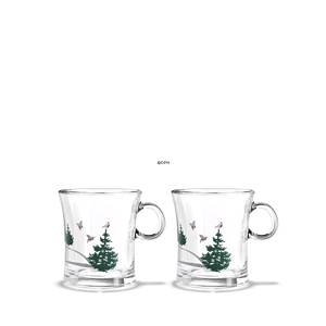 Hot drink glass 2014, 2 pcs. Holmegaard Christmas
