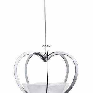 Annual Christmas Candleholder 2005, Heart silver. Holmegaard | Year 2005 | No. 4801115 | DPH Trading