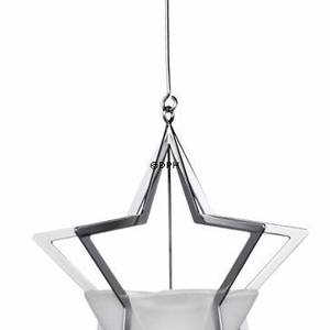 Annual Christmas Candleholder 2007, Star silver. Holmegaard Christmas | Year 2007 | No. 4801117 | DPH Trading