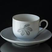 Leaves coffee cup with saucer, Bing & Grondahl No. 102