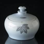 Leaves sugar bowl with lid, Bing & Grondahl