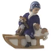 Else on Sleigh, Royal Copenhagen figurine