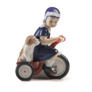 Else on tricycle, Royal Copenhagen figurine | No. 5021005 | DPH Trading