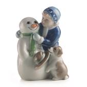 Else is building a snowman, Royal Copenhagen figurine