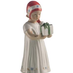 Else Girl with Christmas Present, Royal Copenhagen | No. 5021091 | DPH Trading
