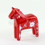 Horse of wood, red/white