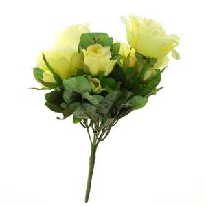 Artificial rose bush, small, yellow | No. 5601 | Alt. S187902 | DPH Trading