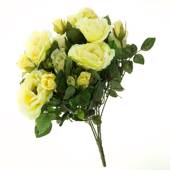 Artificial rose bush, large, yellow