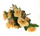 Artificial rose bush, large, peach