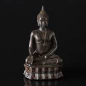 Buddha, sitting, brown