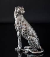 Cheetah, silver, large