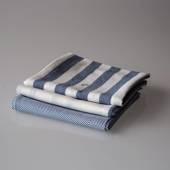 Teatowels in blue colours, 3 pce.