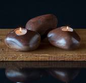 """Candle- stone"" In brown colours - assorted"