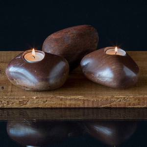 Candle- stone In brown colours assorted | No. 7 | DPH Trading