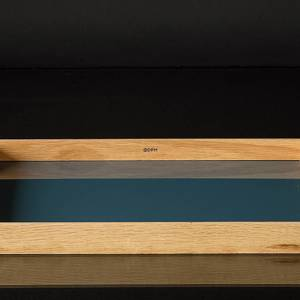 Glassu tray blue glass and oak