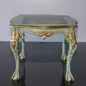 Table for lamp, green finish