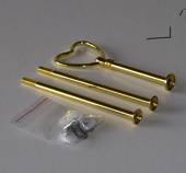Fittings for cake stand, golden, Heart Handle, 2-3 layer