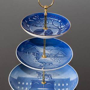 Complete Bing & Grondahl Centerpiece made of Bing & Grondahl Plates, | No. 8990 | Alt. 899 | DPH Trading
