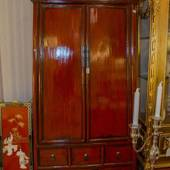Antique Chinese cupboard with doors and drawers