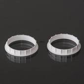 Socket rings for E27 socket, white, 2 pcs.