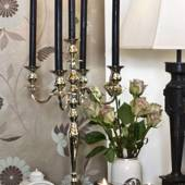 CHROM CANDLESTICK WITH 5 BRANCH, 60 CM