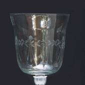 Top glass for candlesticks with decorations, large