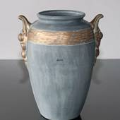 """Patina"" vase verdigrised"