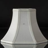 Hexagonal lampshade height 16 cm, white silk fabric