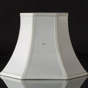 Hexagonal lampshade height 25 cm, white silk | No. A251832A0671R | DPH Trading
