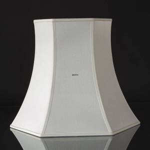 Hexagonal lampshade height 39 cm, white silk | No. A392543A0671R | DPH Trading