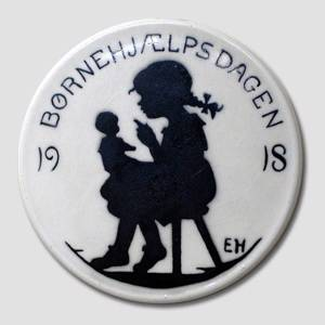 1918 Aluminia, Child Welfare plate, Girl