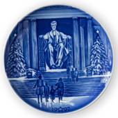 USA Christmas Plate Lincoln Memorial - Bing & Grondahl