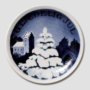 Fir tree in front of the church Aluminia plaquette, Merry Christmas | No. AGJ15 | Alt. RNR800 | DPH Trading