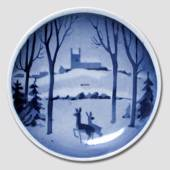 Deer in the snow Aluminia plaquette, Merry Christmas
