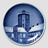 The Round Tower in Copenhgen Aluminia Plaquette, Merry Christmas