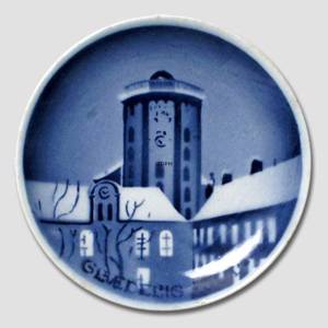 The Round Tower in Copenhgen Aluminia Plaquette, Merry Christmas | No. AGJ18 | Alt. RNR800 | DPH Trading