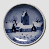 Winter scenery Aluminia plaquette, Merry Christmas