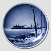 Snow covered landscape Aluminia plaquette, Merry Christmas