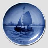 Fishing boat Aluminia plaquette, Merry Christmas