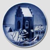 Church tower Aluminia plaquette, Merry Christmas